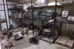 Części z kradzionych samochodów