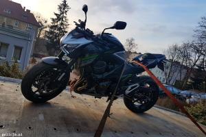 Odzyskany po kradzieży motocykl